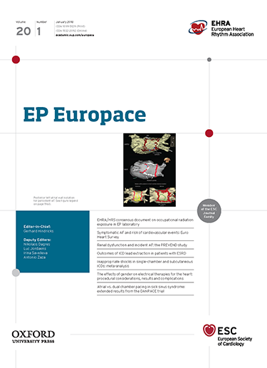 a0c6b887d497 The EP-Europace journal aims to provide an avenue of communication of top  quality European and international original scientific work and reviews in  the ...