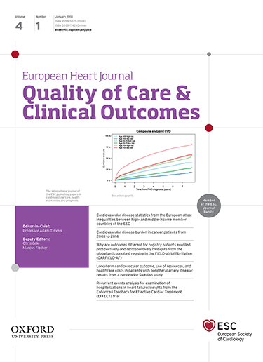 European heart journal quality of care and clinical outcomes the european heart journal quality of care clinical outcomes ehj qcco is an official peer reviewed journal of the european society of cardiology publicscrutiny Choice Image