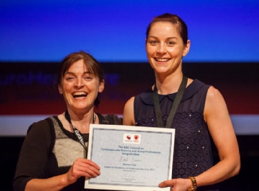 Edel Cronin, winner of the 2017 Award for Excellence in Cardiovascular Care