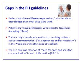 Comments on the guidelines from Patients - P. Ferrari